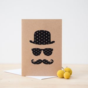 Hat, Glasses & Moustache Card