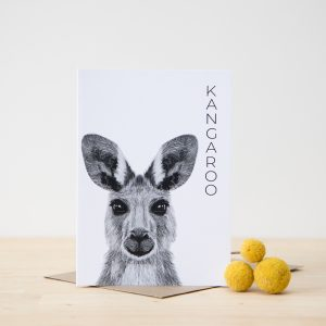 Australian Animal Card Kangaroo