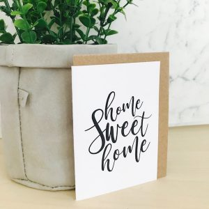 new Home Sweet Home mini card