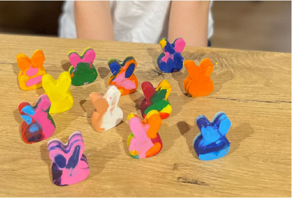 feature Easy DIY Easter Crayons_poppy and daisy designs_eco crafts for kids 10
