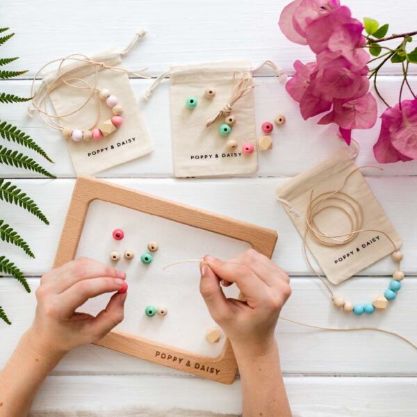 DIY eco friendship necklace kit for kids poppy and daisy